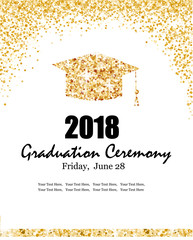 Class of 2018 graduation ceremony banner