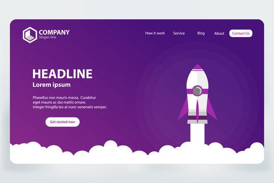 Website Ranking Landing Page Vector Template Design Concept