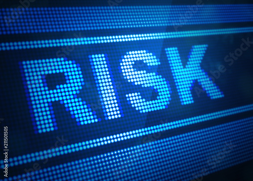 risk digital screen 3d illustration