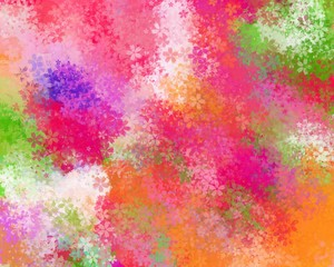 gradient colorful background with blossom flower pattern
