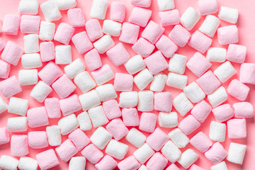 beautiful pink and white sweet marshmallow like background, festive concept