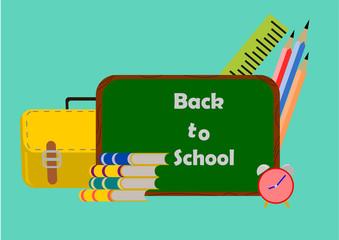 Creative Back to school set .Illustration vector.