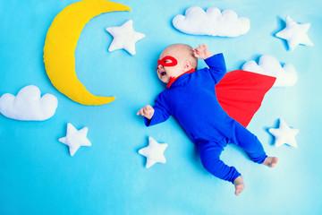 flying baby superhero