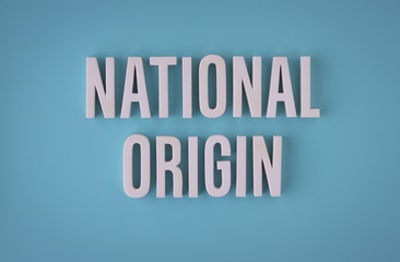 National origin sign lettering