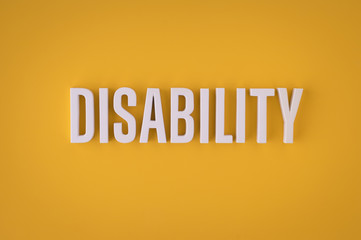 Disability sign lettering