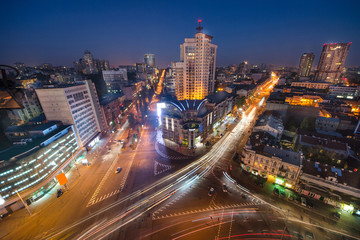 Kiev City - the Capital of Ukraine. Night View