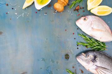 fresh sea fish preparation