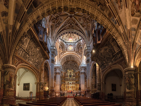 The famous Royal Monastery of St. Jerome  in Granada, Spain