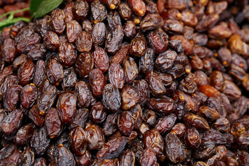Delicious juicy raw ripe dates fruits