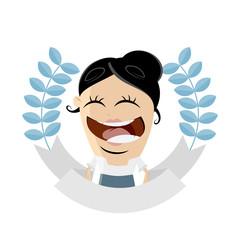 businesswoman is getting an award