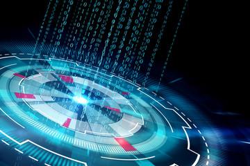 binary code and cyberspace