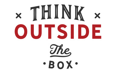 Wall Murals Positive Typography think outside the box