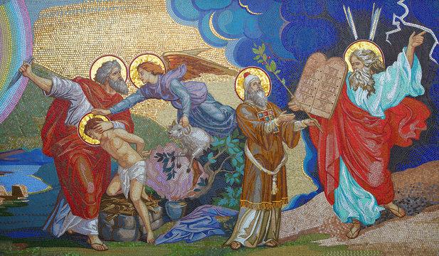 Religion. Mosaic. Orthodox church in Kirowograd Ukraine