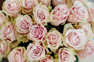 Bouquet of roses in a vase.