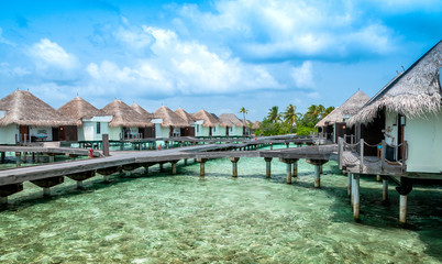 acation on Maldives. Tropical paradise. Holiday deluxe
