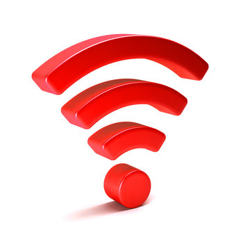 Wireless wifi 3D render illustration isolated