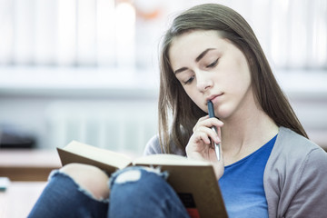 teenager at school