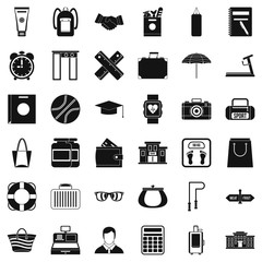 Sporting icons set. Simple style of 36 sporting vector icons for web isolated on white background