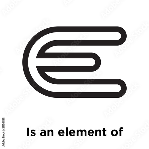 Is An Element Of Symbol Icon Vector Sign And Symbol Isolated On