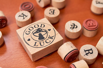 Scrapbooking wooden stamp set