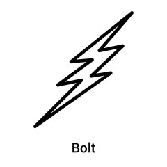 Bolt icon vector sign and symbol isolated on white background, Bolt logo concept