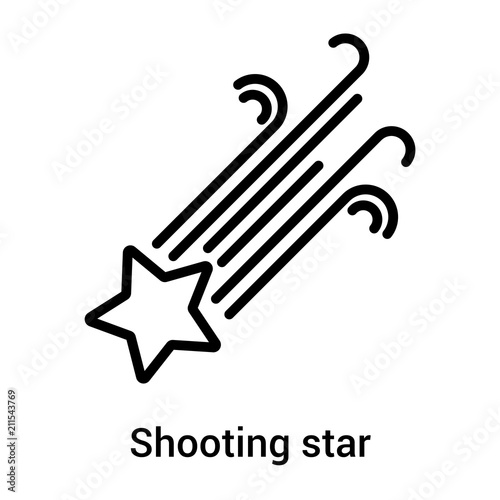 Shooting Star Icon Vector Sign And Symbol Isolated On White