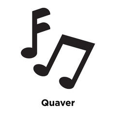 Quaver icon vector sign and symbol isolated on white background, Quaver logo concept