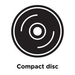Compact disc icon vector sign and symbol isolated on white background, Compact disc logo concept