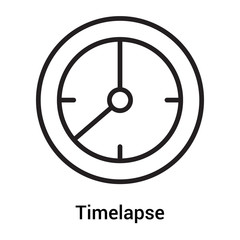 Timelapse icon vector sign and symbol isolated on white background, Timelapse logo concept