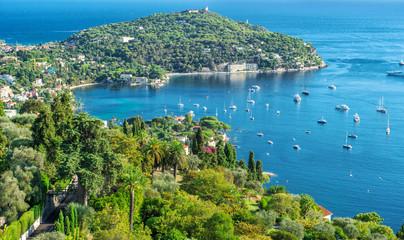 Mediterranean sea French riviera Summer holidays background