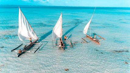 fishermen's dhow in stone town, Zanzibar