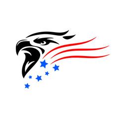 amerikanische Flagge Adler Weißkopfseeadler
