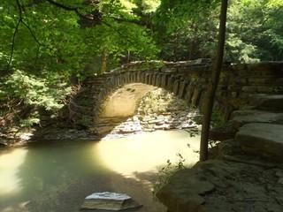 Stone bridge in Stony Book State Park in NY