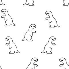 Seamless pattern from tyrannosaurus