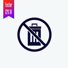 no delete icon vector