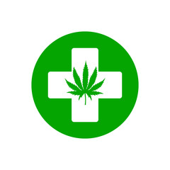 Medical marijuana. Vector.