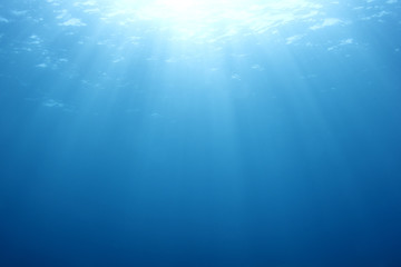 Abstract blue underwater background