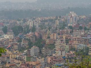 Aerial panorama of Kathmandu, Nepal