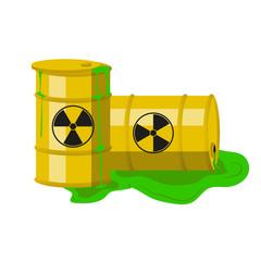 Radioactive barrels. Vector.
