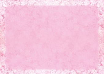Pink cherry blossom flower gradient paper background for faded border