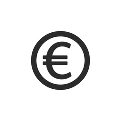 Euro coin icon. Vector