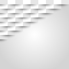 Abstract white geometric texture background