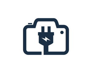 Electric Camera Photo Logo Icon Design Element