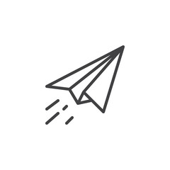 Paper plane fly outline icon. linear style sign for mobile concept and web design. Send message line vector icon. Symbol, logo illustration. Pixel perfect vector graphics