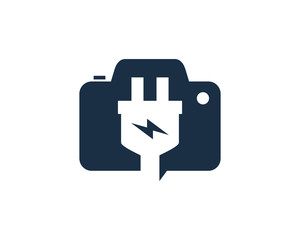 Electric Photo Logo Icon Design Element
