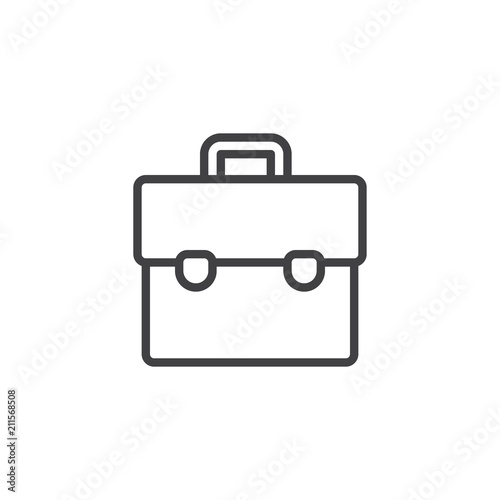 Suitcase outline icon. linear style sign for mobile concept