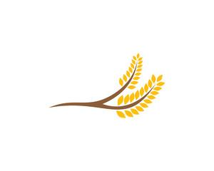 Wheat Icon Logo Design Element