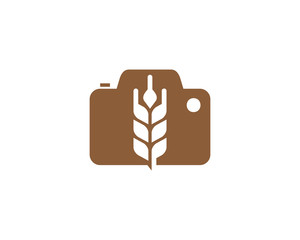 Photo Wheat Logo Icon Design Element