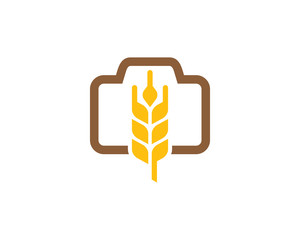 Wheat Photo Logo Icon Design Element
