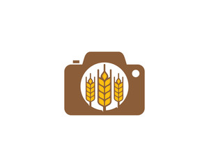 Wheat Camera Logo Icon Design Element